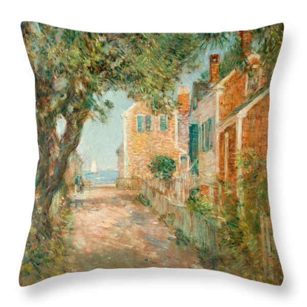 Street In Provincetown Throw Pillow by  Childe Hassam