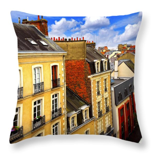 Street in Rennes Throw Pillow by Elena Elisseeva