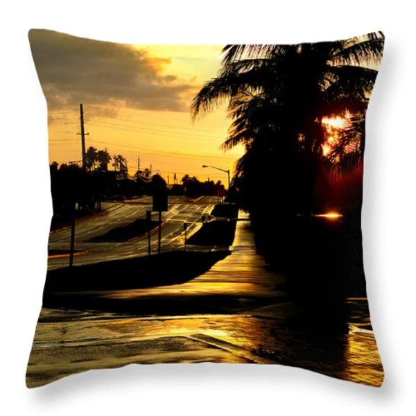 Street Of Dreams Throw Pillow by Laura  Fasulo