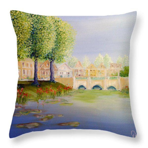 Streets Of Celebration Throw Pillow by David Kacey