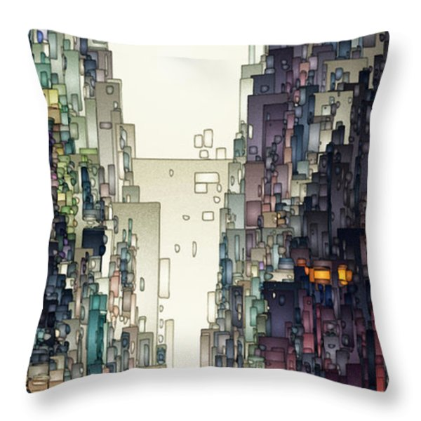 Streetscape 1 Throw Pillow by David Hansen