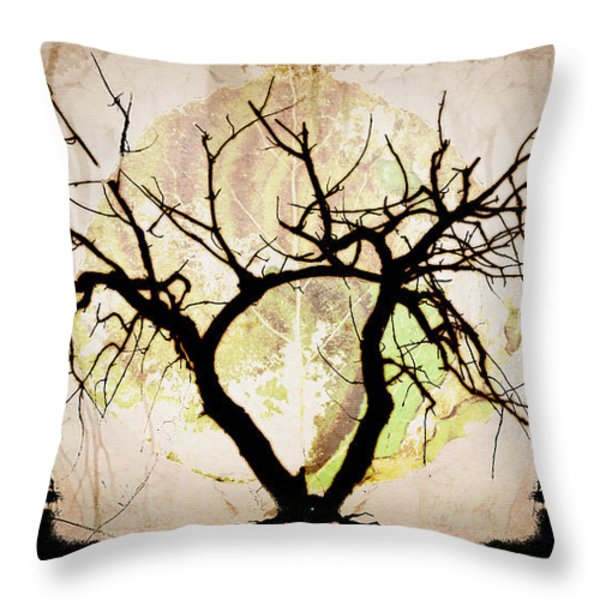 Stretching Throw Pillow by Brett Pfister