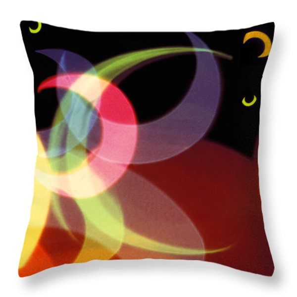 String Of Lights 1 Throw Pillow by Mike McGlothlen