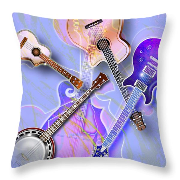 Stringed Instruments Throw Pillow by Design Pics Eye Traveller