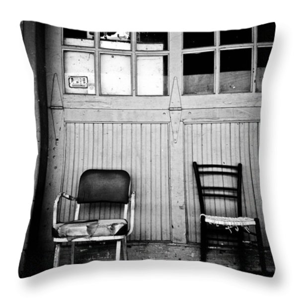 Strip District Doorway Number Eight Throw Pillow by Amy Cicconi