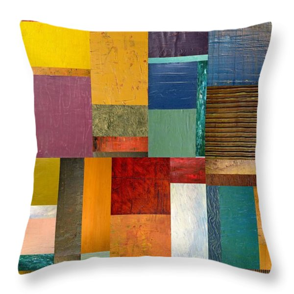 Strips and Pieces ll Throw Pillow by Michelle Calkins