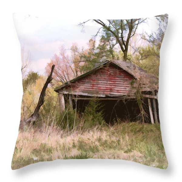 Strong Enough Throw Pillow by Bonnie Willis