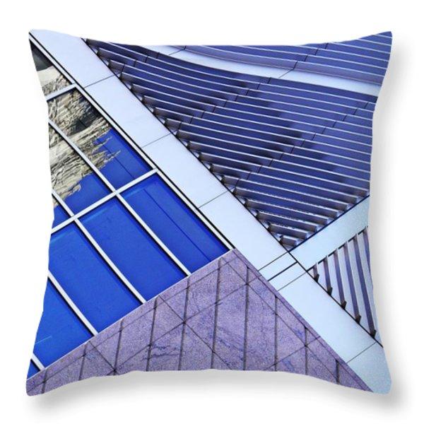 Structural Abstract 7 Throw Pillow by Sarah Loft