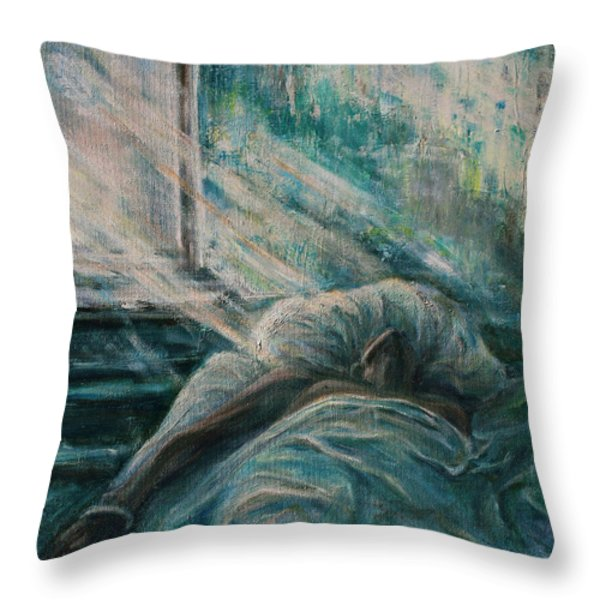 Struggling... Throw Pillow by Xueling Zou