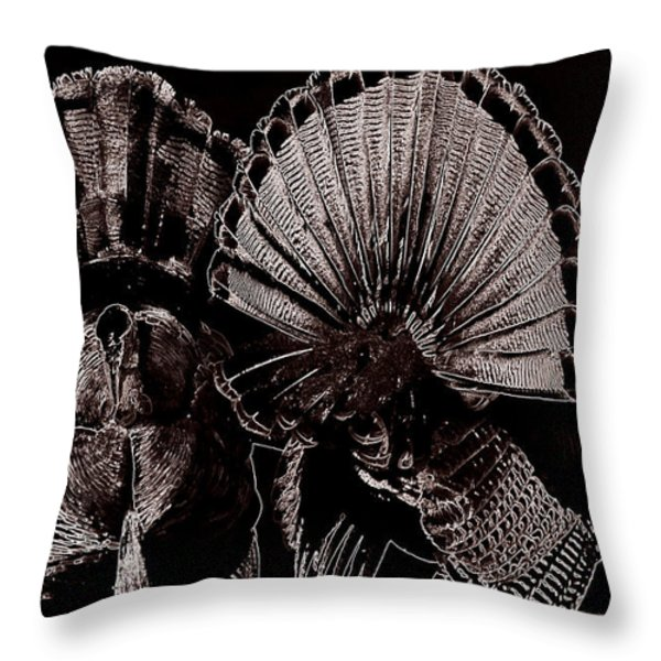 Strutters Throw Pillow by Todd Hostetter