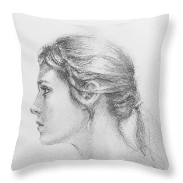Study in Profile Throw Pillow by Sarah Parks