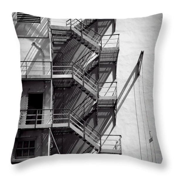 Study Of Lines And Shadows Throw Pillow by Rudy Umans