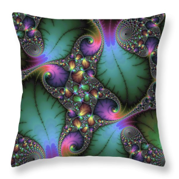 Stunning mandelbrot fractal Throw Pillow by Matthias Hauser