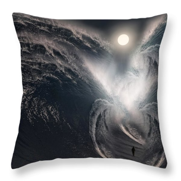 Subconscious Throw Pillow by Lourry Legarde