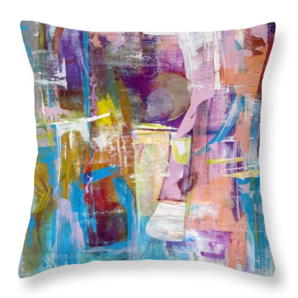 Subjective Throw Pillow by Katie Black