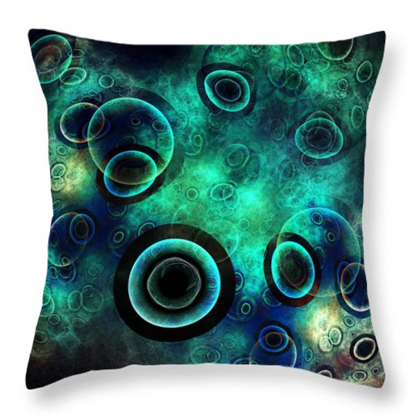 Subspace Continuum Throw Pillow by Anastasiya Malakhova