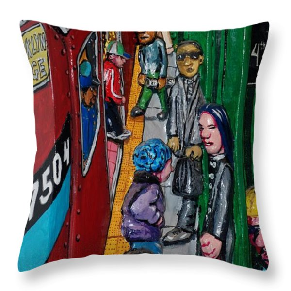 Subway 1 Throw Pillow by Rob Hans