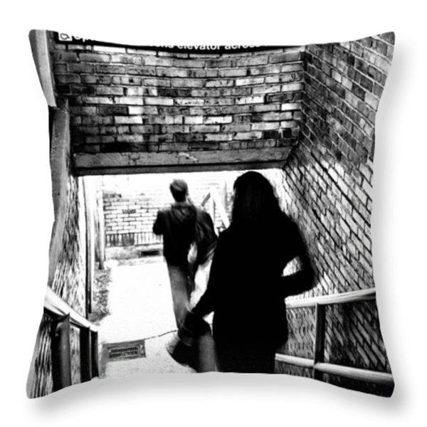 Subway Shadows Throw Pillow by Karol  Livote