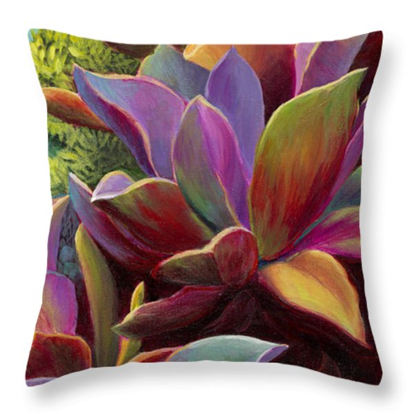 Succulent Jewels Throw Pillow by Sandi Whetzel