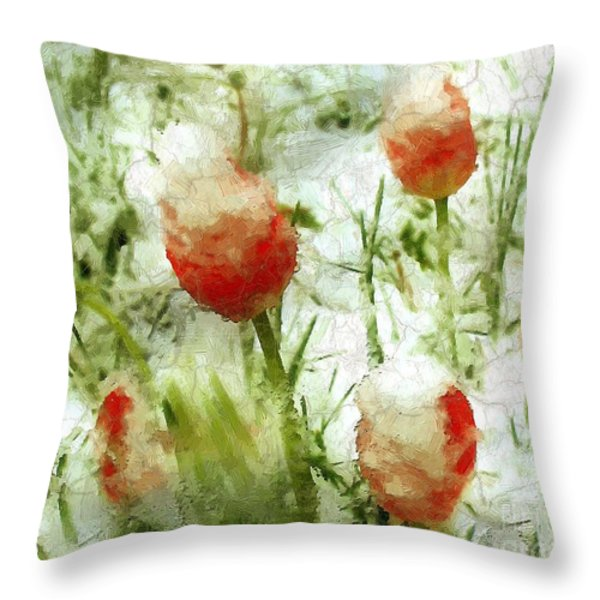 Suddenly Snow Throw Pillow by RC deWinter