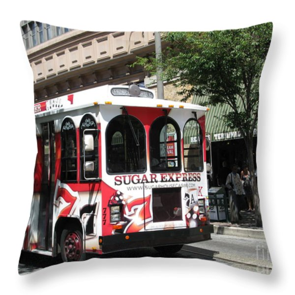 Sugar Express. Philadelphia. Pennsylvania Throw Pillow by Ausra Paulauskaite