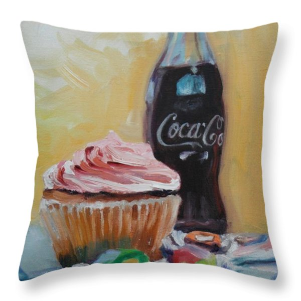Sugar Overload Throw Pillow by Donna Tuten