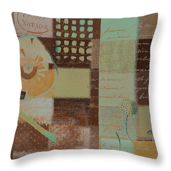 Summer 2014 - J088097112-brown01 Throw Pillow by Variance Collections