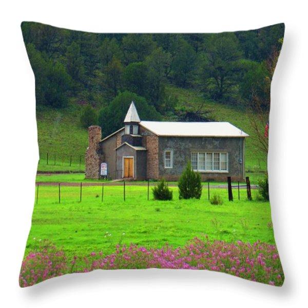 Summer at Apache Creek Throw Pillow by Feva  Fotos