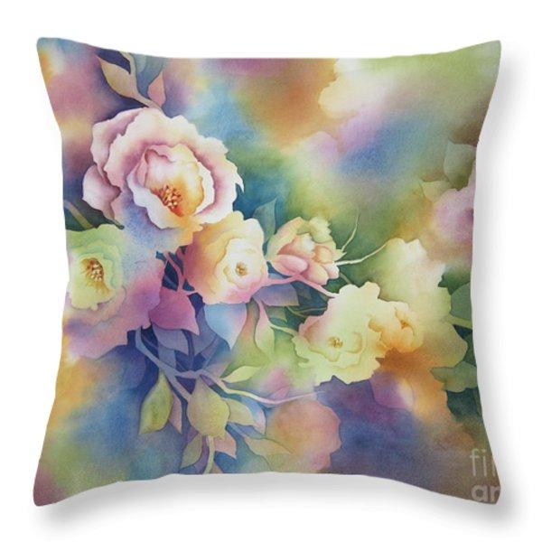 Summer Blooms Throw Pillow by Deborah Ronglien