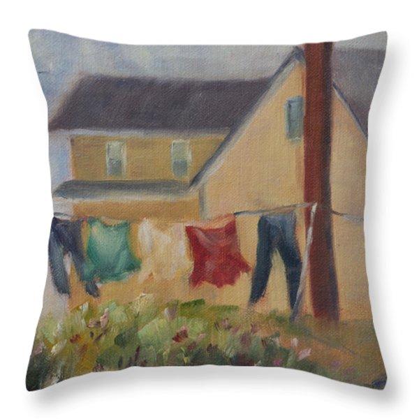 Summer Breeze Throw Pillow by Debbie Lamey-MacDonald