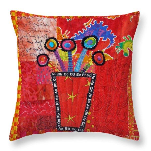 Summer Dance Throw Pillow by Susan Rienzo