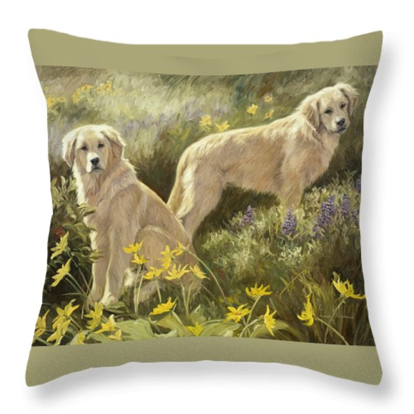 Summer Day Throw Pillow by Lucie Bilodeau