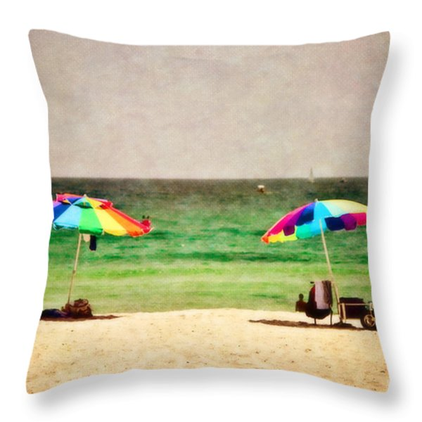 Summer Days At The Beach Throw Pillow by Scott Pellegrin