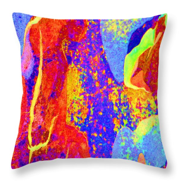 Summer Eucalypt Abstract 27 Throw Pillow by Margaret Saheed