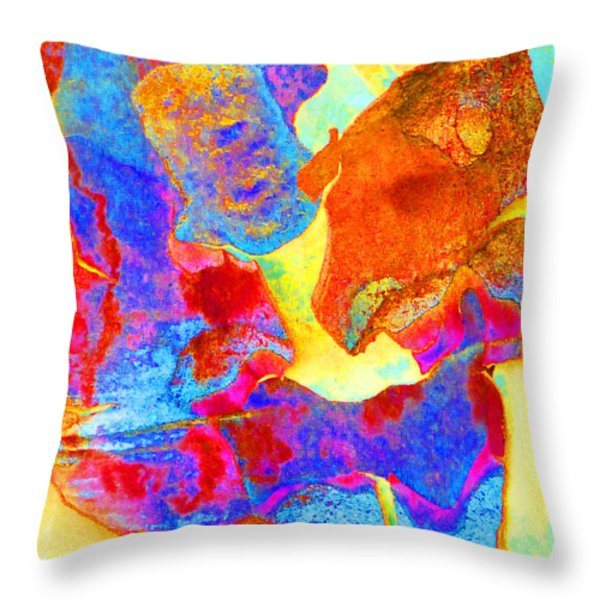 Summer Eucalypt Abstract 28  Throw Pillow by Margaret Saheed