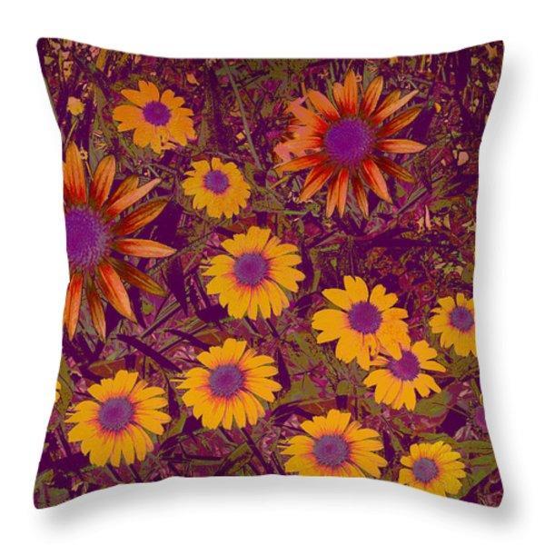 Summer Garden Throw Pillow by Ann Powell
