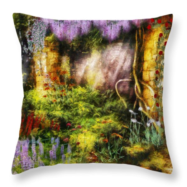 Summer - I Found The Lost Temple Throw Pillow by Mike Savad