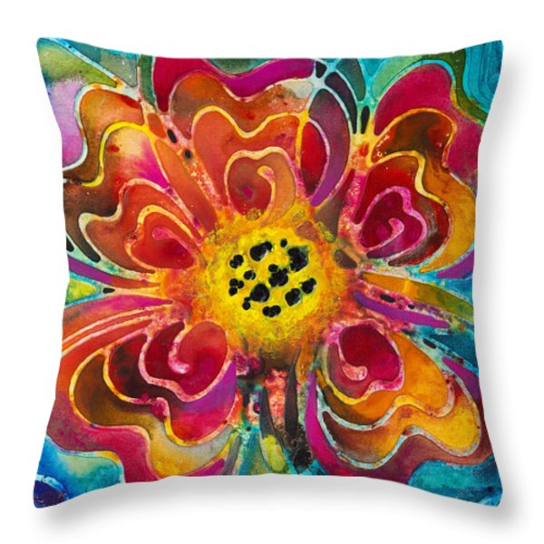Summer Love Throw Pillow by Sharon Cummings