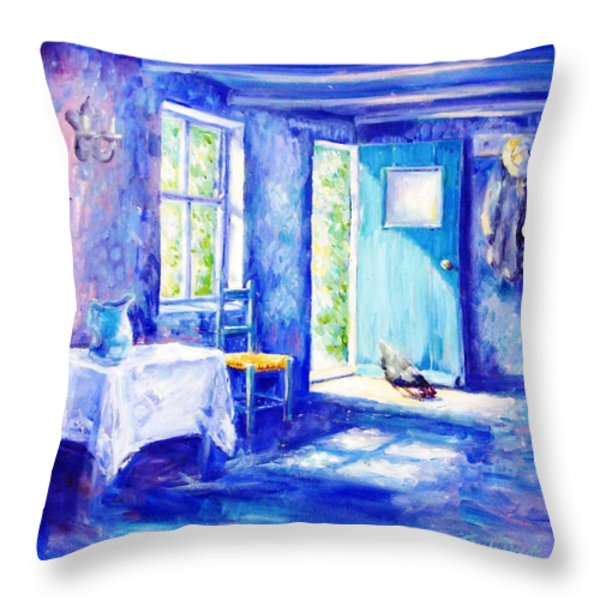 Summer Morning Throw Pillow by Trudi Doyle