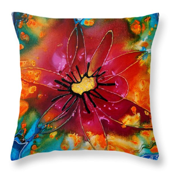 Summer Queen Throw Pillow by Sharon Cummings