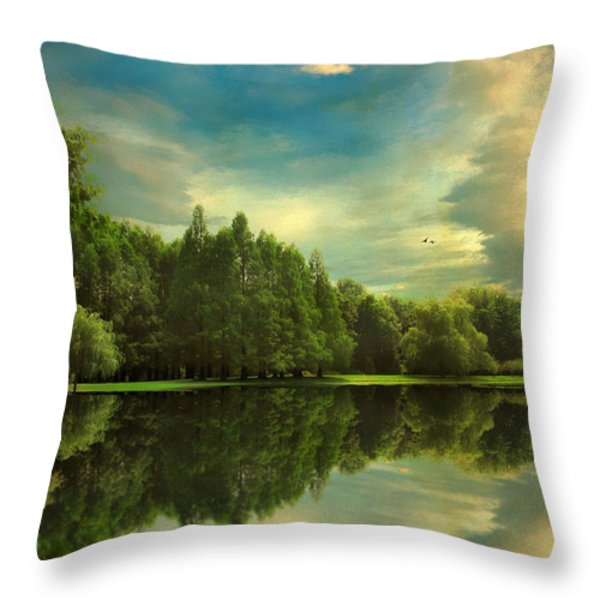 Summer Reflections Throw Pillow by Jessica Jenney
