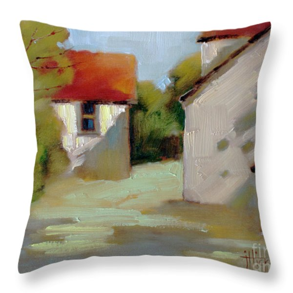 Summer Shadows Throw Pillow by Joyce Hicks