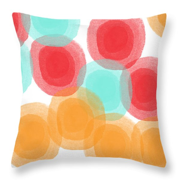Summer Sorbet- Abstract Painting Throw Pillow by Linda Woods