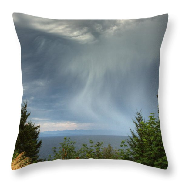 Summer Squall Throw Pillow by Randy Hall
