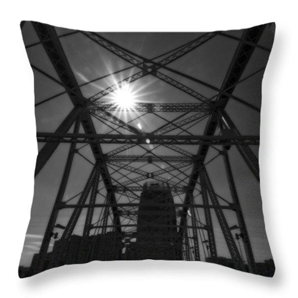 Summer Sun On Shelby Street Bridge Throw Pillow by Dan Sproul