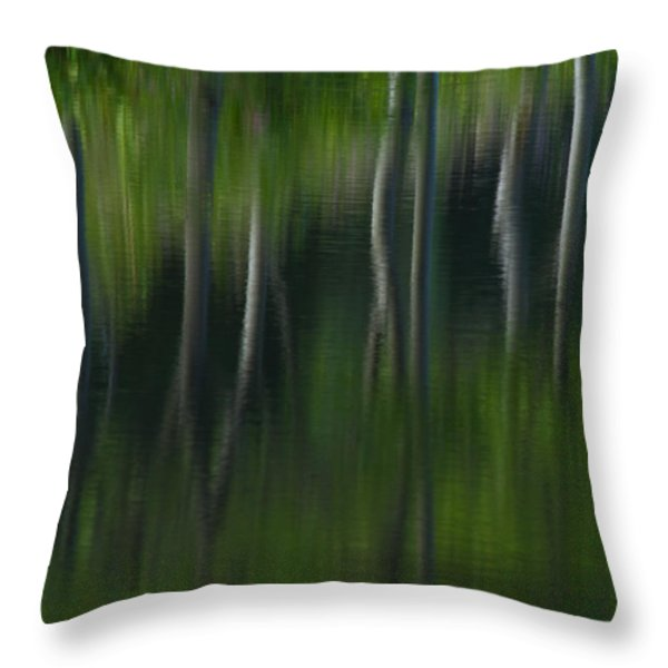 Summer Trees Throw Pillow by Karol  Livote