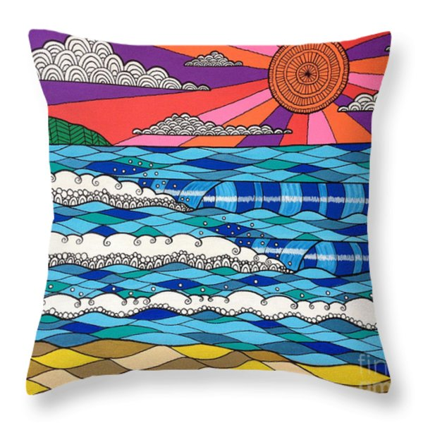 Summer Vibes Throw Pillow by Susan Claire