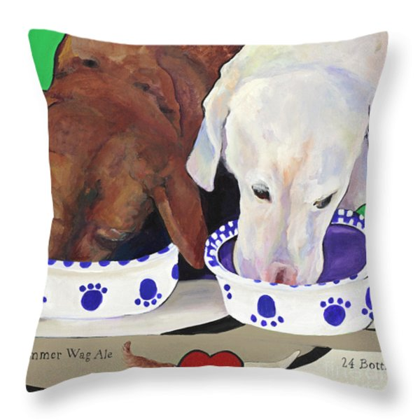 Summer Wag Ale Throw Pillow by Pat Saunders-White