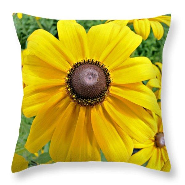 Summers Bloom Throw Pillow by Susan Leggett