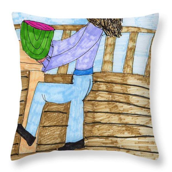 Summers Lunch Throw Pillow by Elinor Rakowski